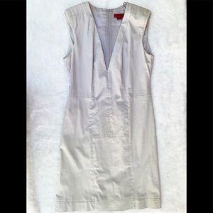 Hugo Boss V-Neck Business Fitted Dress